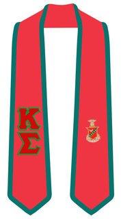 Kappa Sigma Greek 2 Tone Lettered Graduation Sash Stole