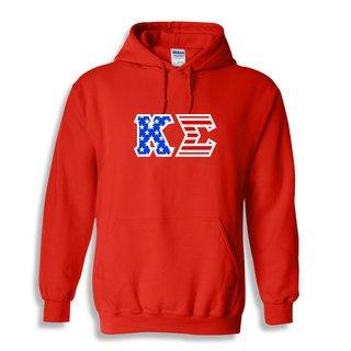 DISCOUNT-Kappa Sigma Greek Letter American Flag Hoodie