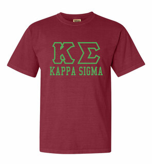 Kappa Sigma Greek Outline Comfort Colors Heavyweight T-Shirt