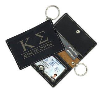 Kappa Sigma Leatherette ID Key Holders