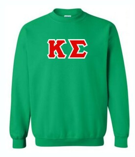Kappa Sigma Sewn Lettered Crewneck Sweatshirt