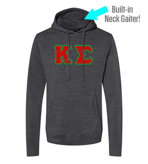 Kappa Sigma Lettered Gaiter Fleece Hooded Sweatshirt