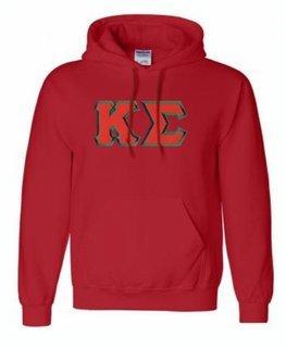 Kappa Sigma Lettered Greek Hoodie- MADE FAST!