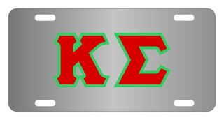 Kappa Sigma Lettered License Cover