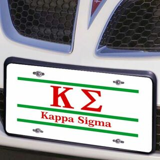 Kappa Sigma Lettered Lines License Cover