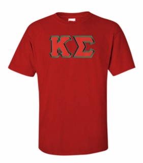 Kappa Sigma Lettered T-shirt - MADE FAST!