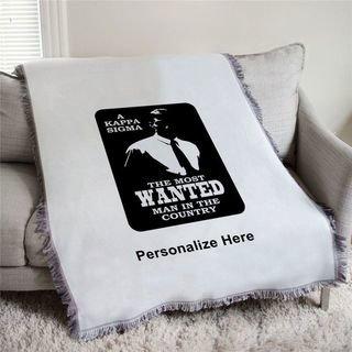 Kappa Sigma Most Wanted Afghan Blanket Throw