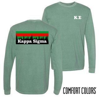 Kappa Sigma Outdoor Long Sleeve T-shirt - Comfort Colors