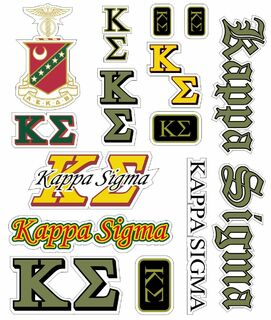 Kappa Sigma Multi Greek Decal Sticker Sheet