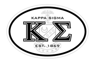 Kappa Sigma Oval Crest - Shield Bumper Sticker - CLOSEOUT