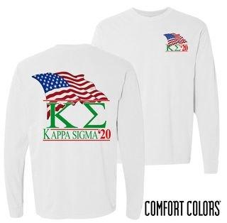Kappa Sigma Patriot Long Sleeve T-shirt - Comfort Colors