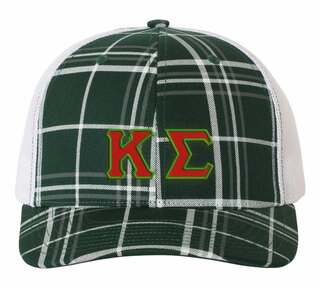 Kappa Sigma Plaid Snapback Trucker Hat