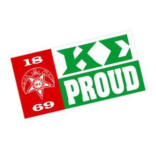 Kappa Sigma Proud Bumper Sticker - CLOSEOUT