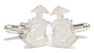 Kappa Sigma Sterling Silver Crest Cufflinks