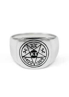 Kappa Sigma Sterling Silver Ring with Symbol