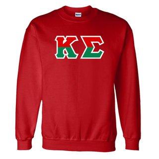 Kappa Sigma Two Tone Greek Lettered Crewneck Sweatshirt