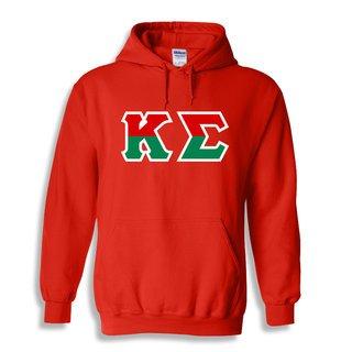 Kappa Sigma Two Tone Greek Lettered Hooded Sweatshirt