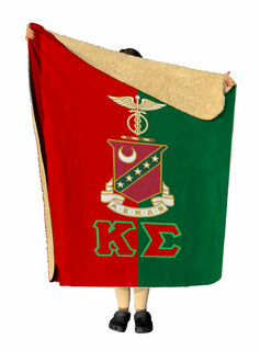 Kappa Sigma Two Tone Two Tone Sherpa Lap Blanket
