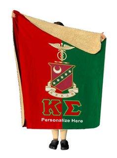 Kappa Sigma Two Tone Sherpa Lap Blanket