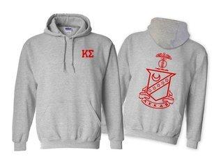 Kappa Sigma World Famous Crest - Shield Printed Hooded Sweatshirt- $35!