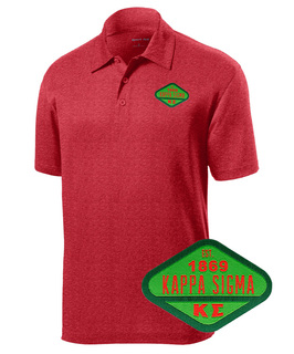DISCOUNT-Kappa Sigma Woven Emblem Greek Contender Polo