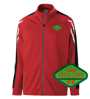 DISCOUNT-Kappa Sigma Woven Emblem Greek Flux Track Jacket