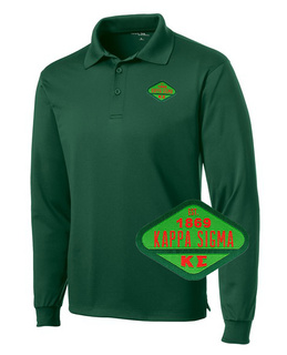 DISCOUNT-Kappa Sigma Woven Emblem Greek Long Sleeve Dry Fit Polo