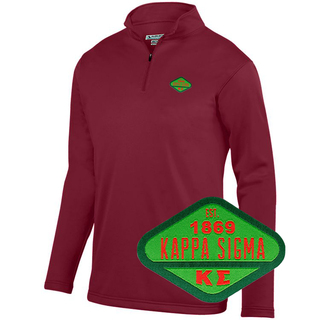 DISCOUNT-Kappa Sigma Woven Emblem Wicking Fleece Pullover