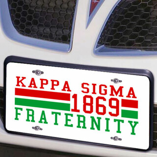 Kappa Sigma Year License Plate Cover
