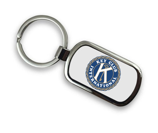 Key Club Chrome Key Chain