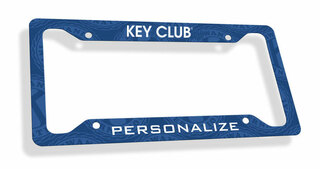 Key Club Custom License Plate Frame