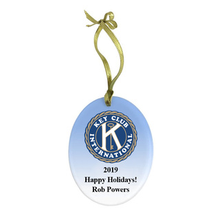 Key Club Holiday Color Glass Ornament