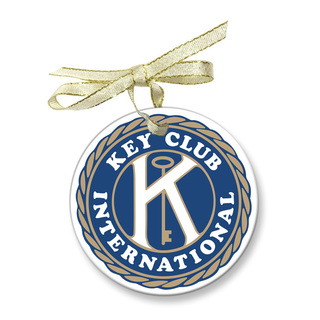 Key Club Holiday Glass Ornaments