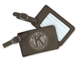 Key Club Leatherette Luggage Tag
