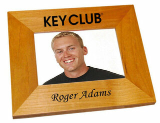 Key Club Wood Picture Frame