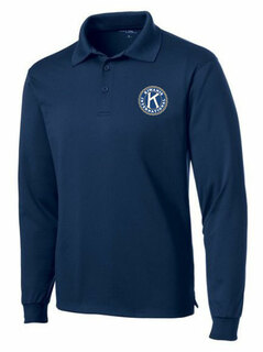 Kiwanis- $30 World Famous Long Sleeve Dry Fit Polo