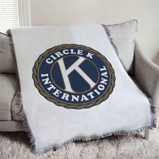 Kiwanis Circle K Afghan Blanket Throw