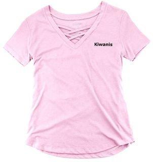 Kiwanis Ladies Caged Front Tee