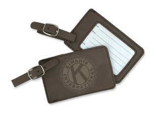 Kiwanis Leatherette Luggage Tag