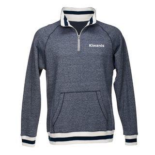 Kiwanis Peppered Fleece Quarter-Zip Sweatshirt