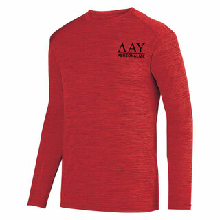 Lambda Alpha Upsilon- $26.95 World Famous Dry Fit Tonal Long Sleeve Tee