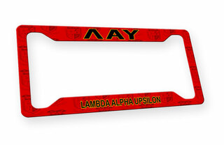 Lambda Alpha Upsilon Custom License Plate Frame