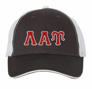 Lambda Alpha Upsilon Double Greek Trucker Cap