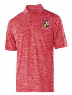 Lambda Alpha Upsilon Greek Crest Emblem Electrify Polo