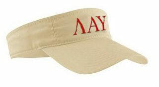 Lambda Alpha Upsilon Greek Letter Visor