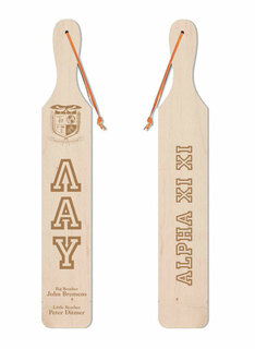 Lambda Alpha Upsilon Old School Wood Greek Paddle