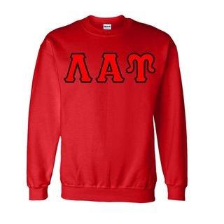 Lambda Alpha Upsilon Sewn Lettered Crewneck Sweatshirt