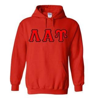 Lambda Alpha Upsilon Sewn Lettered Hooded Sweatshirts