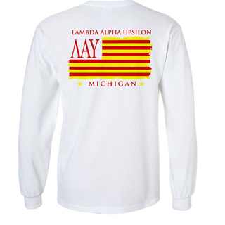 Lambda Alpha Upsilon Stripes Long Sleeve T-shirt - Comfort Colors