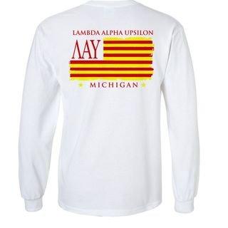 Lambda Alpha Upsilon Stripes Long Sleeve T-shirt